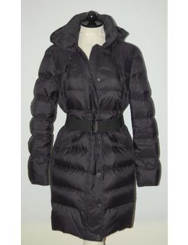 Burberry Abbeydale Navy Blue Hooded Goose Down Puffer Coat M by Burberry