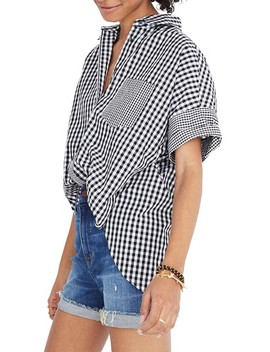 Gingham Play Button Down Shirt by Madewell