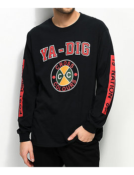 Cross Colours Ya Dig Black Long Sleeve T Shirt by Cross Colours