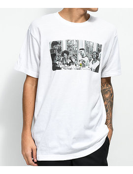 Cross Colours Prince Dinner White T Shirt by Cross Colours