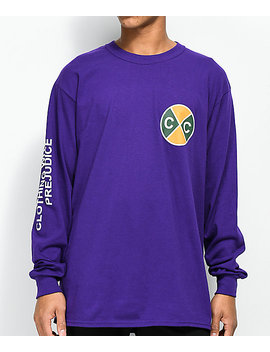 Cross Colours Reality Purple Long Sleeve T Shirt by Cross Colours