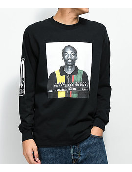 Cross Colours Snoop Mug Black Long Sleeve T Shirt by Cross Colours