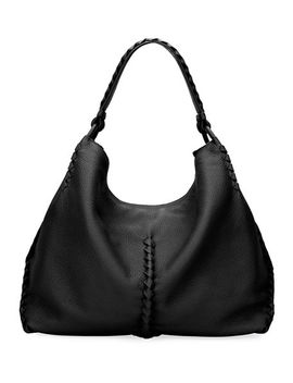 Medium Deerskin Leather Hobo Bag by Bottega Veneta