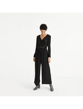 Velvet Trimmed Tie Jumpsuit by Madewell