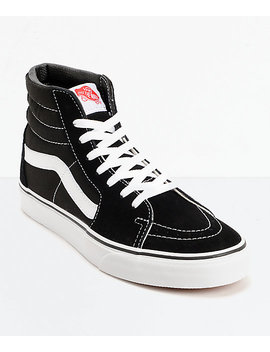 Vans Sk8 Hi Black & White Skate Shoes by Vans