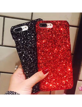 Women Girls Fashion Bling Sparkle Glitter Phone Case Cover For I Phone 6 6s 7 8 X by Unbranded