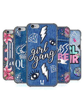 Head Case Designs Printed Denim Embroidery Back Case For Apple I Phone Phones by Head Case Designs