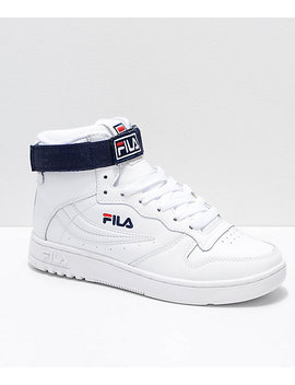 Fila Fx 100 White, Navy & Red Shoes by Fila