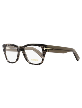 Tom Ford Square Eyeglasses Tf5379 055 Size: 51mm Gray Havana/Stripes Ft5379 by Tom Ford