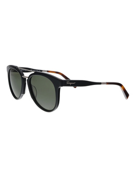 Sf865s 001 Black Aviator Sunglasses by Salvatore Ferragamo