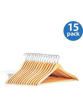 Wood Hangers W/ Bar, Set Of 15 by Neu Home