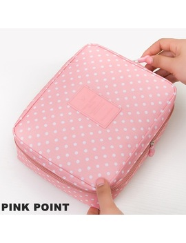 Waterproof Portable Cosmetic Bag Women Travel Make Up Toiletry Bag Of Makeup Case Cosmetic Bag Organizer Accessories M1047 by Rotise Store