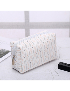 Korean Style Toiletry Bags Travel Pu Leather Cosmetic Bag Small Organizer Women Makeup Bag Make Up Case Beauty Storage Wash Bag by Uni Style Bag Store