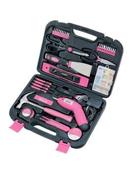Apollo Tools Precision 135pc Household Tool Set, Pink by Apollo Precision Tools