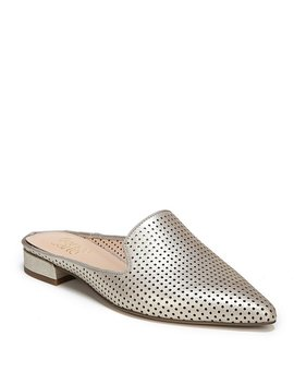 Franco Sarto Samanta 5 Perforated Block Heel Mules by Franco Sarto