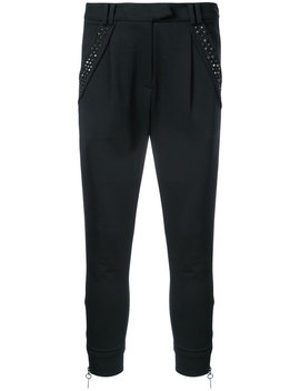 Stud Detailed Tapered Trousers by Thomas Wylde