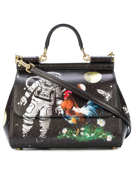 Sicily Astronaut Printed Tote Bag by Dolce & Gabbana