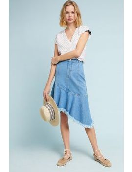 Asymmetrical Denim Skirt by Steele