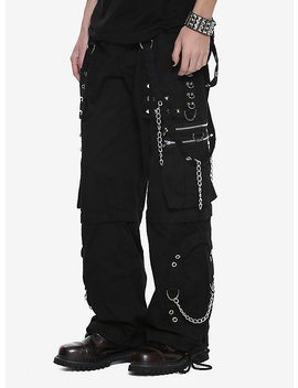 Tripp Black Step Chain Zip Off Pants by Hot Topic