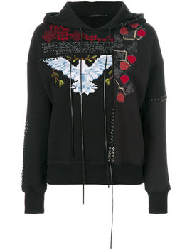 Embroidered Hoodie by Alexander Mc Queen