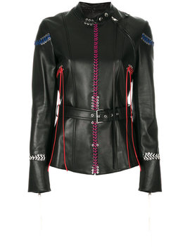 Whip Stitched Leather Jacket by Alexander Mc Queen