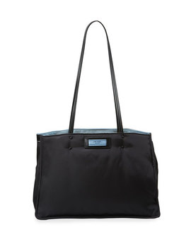 Tessuto Large Double Shoulder Tote Bag by Prada
