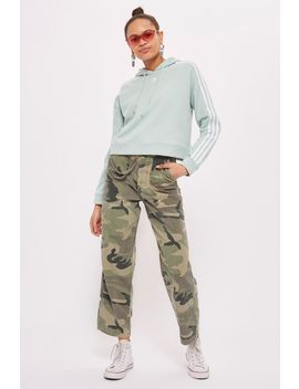 Petite Camouflage Wide Leg Trousers by Topshop