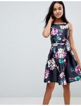 Ax Paris Flroal Skater Dress by Dress