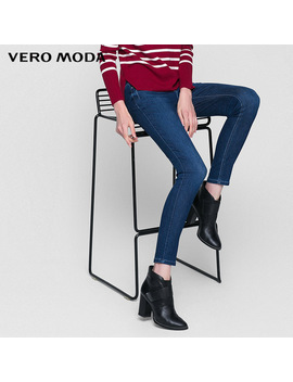 Vero Moda Brand 2018 New Low Waist Full Length Jeans Office Lady Style Regular Comfortable Pencil Pants 317132515 by Ali Express