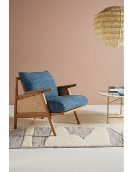 Linen Cane Chair by Anthropologie