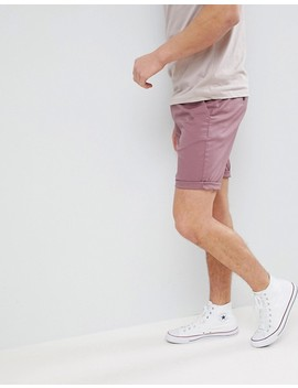 Asos Slim Chino Shorts In Purple Taupe by Asos