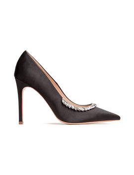 Embellished Satin Court Shoes by H&M