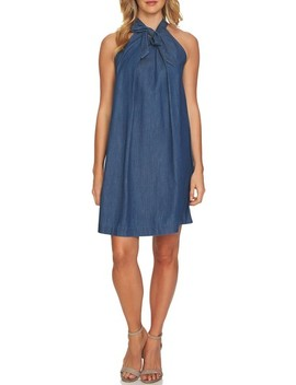 Denim Halter Dress by Cece