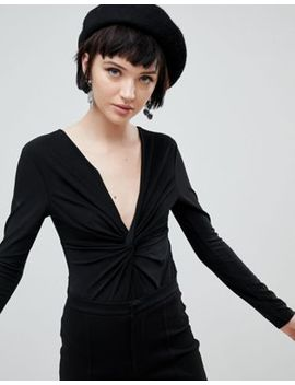 New Look Twist Front Long Sleeve Body by New Look
