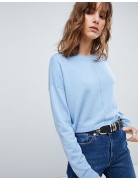 Asos Design Oversized Jumper With Seam Detail by Asos Collection