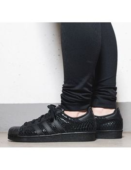 Adidas Originals Superstar W S75126 Black/Black Women's Sneakers 100 Percents Authentic by Adidas Superstar