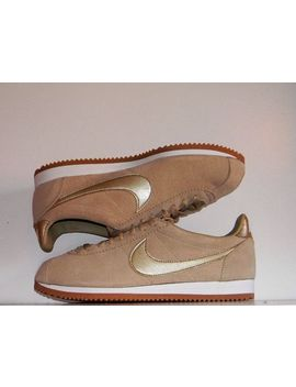 New Nike Women's Classic Cortez Suede Running Shoes Mushroom Aa3839 200 Size 10 by Nike