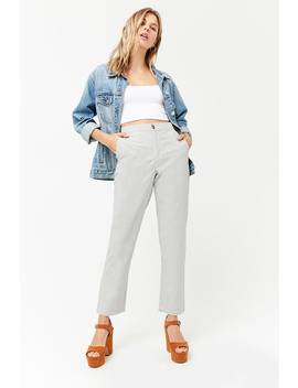 Pinstripe High Waist Trousers by Forever 21