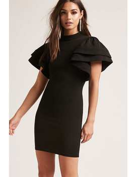 Ruffle Sleeve Mini Dress by Forever 21