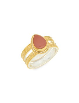 Guava Quartz Double Band Ring by Anna Beck