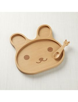 Wooden Bunny Dinner Set by Crate&Barrel