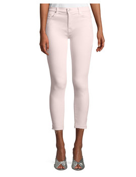 The Ankle Skinny Jeans With Released Hem, Pink by 7 For All Mankind