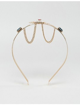 Asos Statement Gem Filigree Crown Headband by Asos Collection