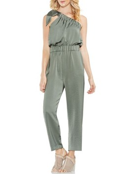 One Shoulder Crop Jumpsuit by Vince Camuto