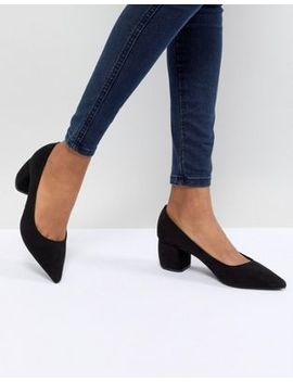 Bershka Pointed Block Heel Shoe by Bershka