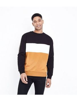Camel Colour Block Sweatshirt by New Look