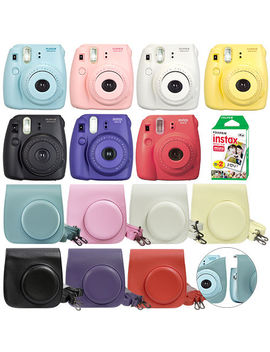 Fuji Instax Mini 8 Fujifilm Instant Film Camera All Colors+ Case & 20 Film Sheet by Fujifilm