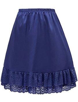 Grace Karin Women Double Layered Satin Skirt Extender Lace Half Slip Claf0416 by Grace Karin