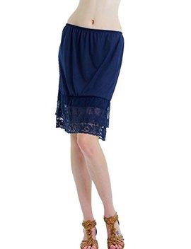 Melody Shop Lev Women Knit Double Lace Half Slip Skirt Extender by Melody