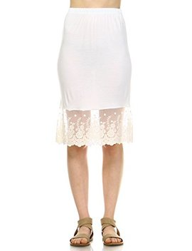 Melody Women Lace Knit Half Slip Skirt Extender For Skirt Lengthening And Extension by Melody